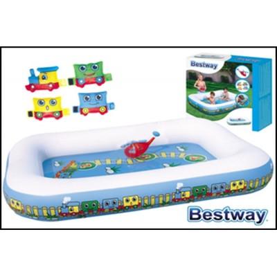 Bestway nafukovací bazén-vlak