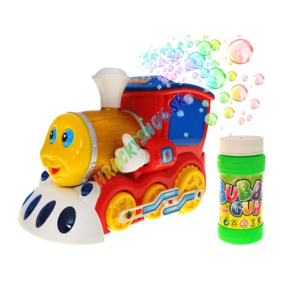 Interaktívna lokomotíva s mydlovými bublinami