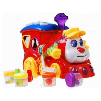 Huile Toys Multifunkčná lokomotíva  s farebnými kockami