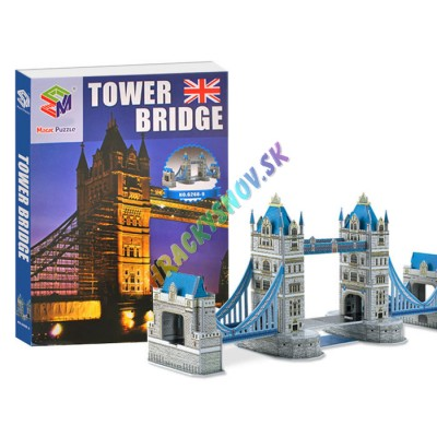 3D Puzzle Tower Bridge-padací most 41ks.