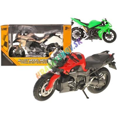 Kovová cestná  motorka