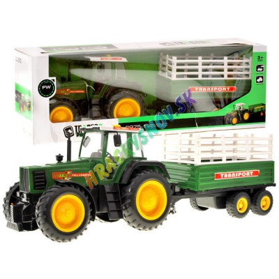 Mega traktor s vlečkou