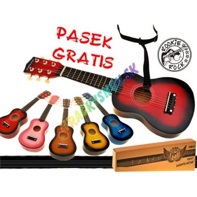 Gitara drevená s popruhom