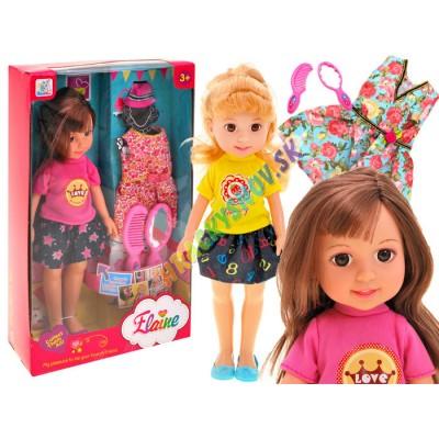 Veľká bábika modelka v sukničke 32cm