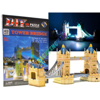 3D Puzzle padací most Drawbridge Glowing Puzzle 49 ks