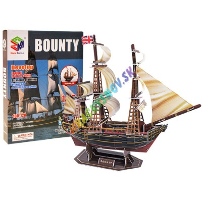 3D puzzle loď Bounty ship sea