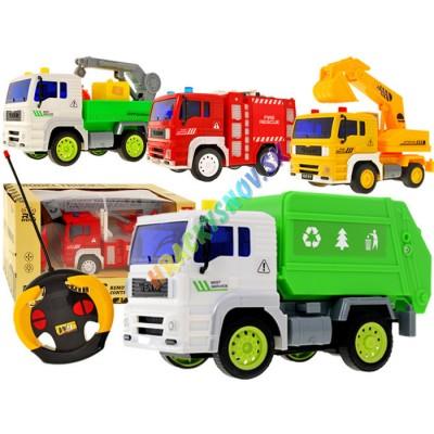 RC 4 typy pracovných áut na diaľkové ovládanie