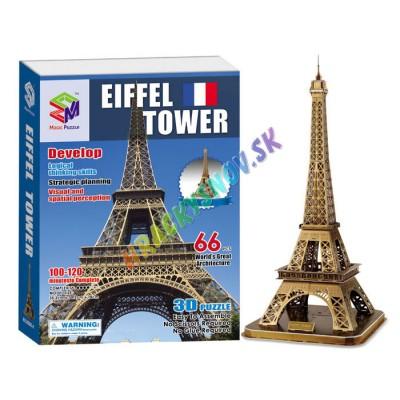 3D Puzlle Eiffel veža 66ks,vysoká 78cm.