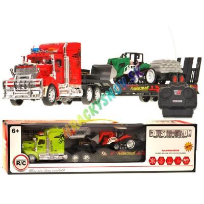 Kamión s diaľkovým ovládaním+buldozér